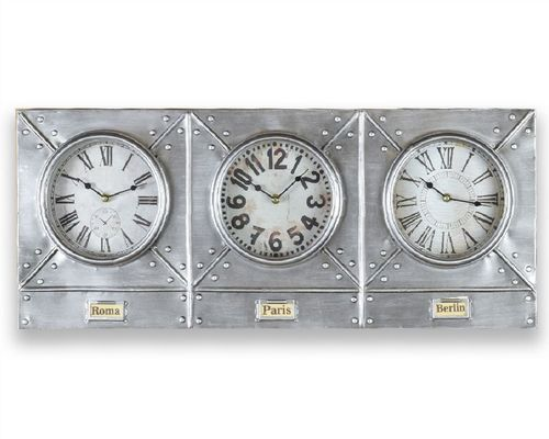 76cm Changeable World Time Industrial Clock